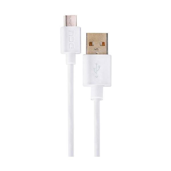Dcu cable blanco conexión usb a micro usb 1m