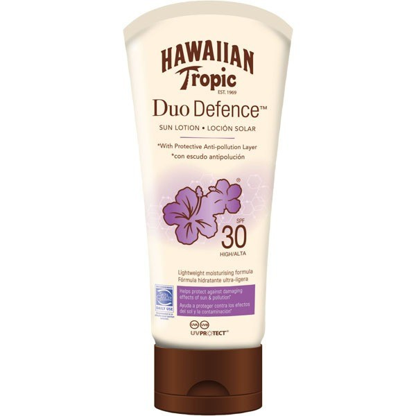 Hawaiian tropic duo defence spf30 sun lotion 180ml