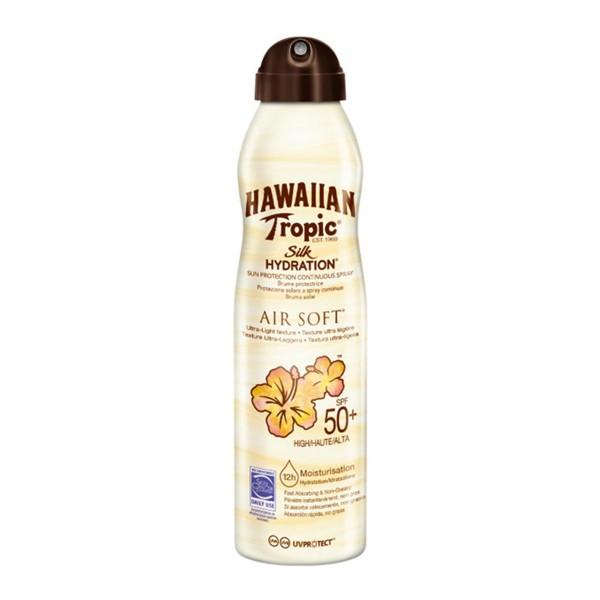 Hawaiian tropic silk hydration air soft spf50+ spray 177ml vaporizador